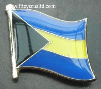 Bahamas Country Flag Lapel Hat Cap Tie Pin Badge / Brooch Bahama Commonwealth
